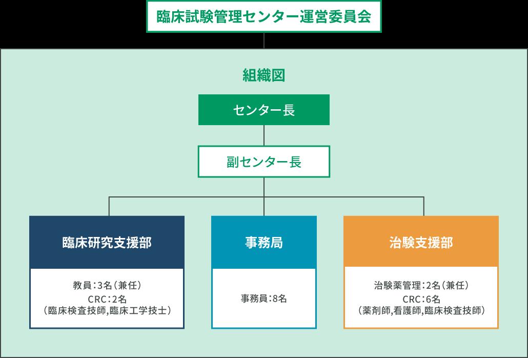 臨床試験管理センター運営委員会 組織図